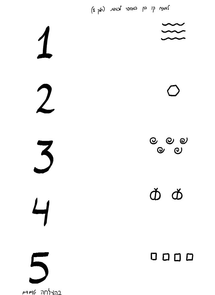 דף עבודה מספרים 1