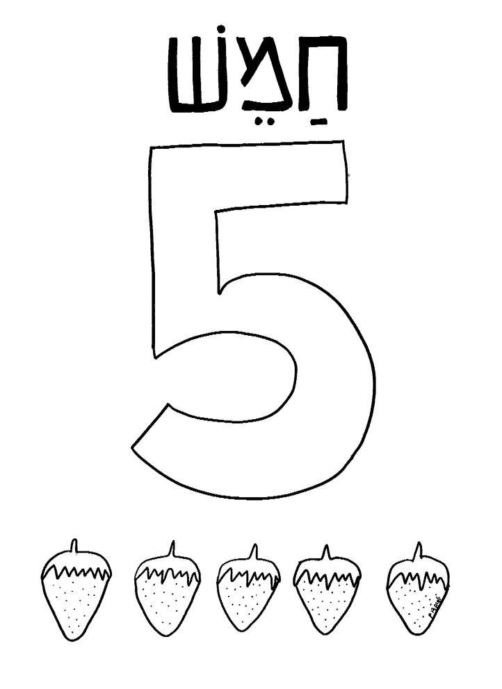 לימוד הספרה 5