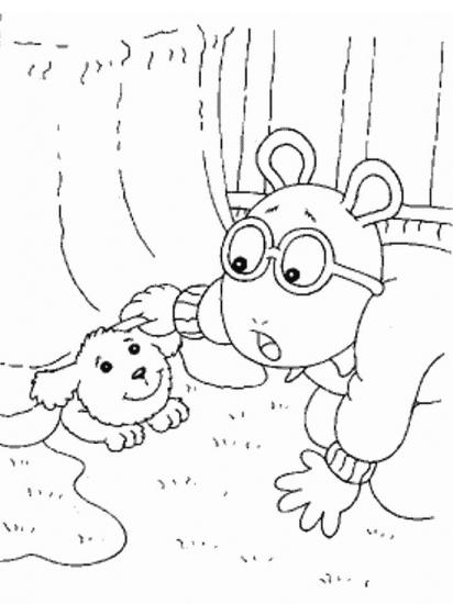 דפי צביעה ארתור וחבר הכלב