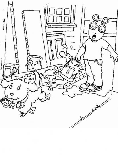 דף צביעה חבר הכלב עושה בלאגן