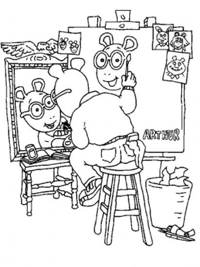 דף צביעה של ארתור הצייר