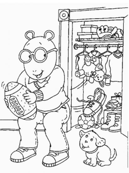 דפי צביעה ארתור יוצא לשחק עם חבר