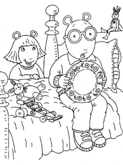 דף צביעה ארתור וגילי
