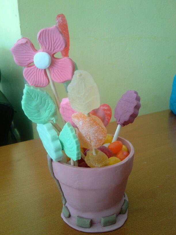 עציץ בצק סוכר
