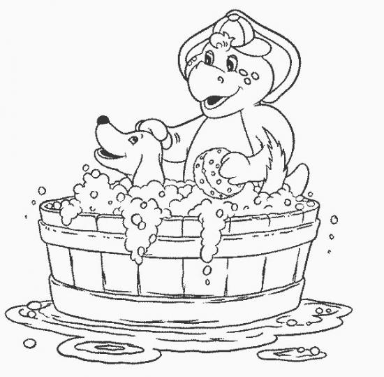 דף צביעה ברני באמבטיה