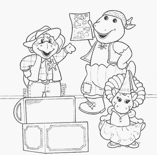 דפי צביעה ברני משחק עם חבריו
