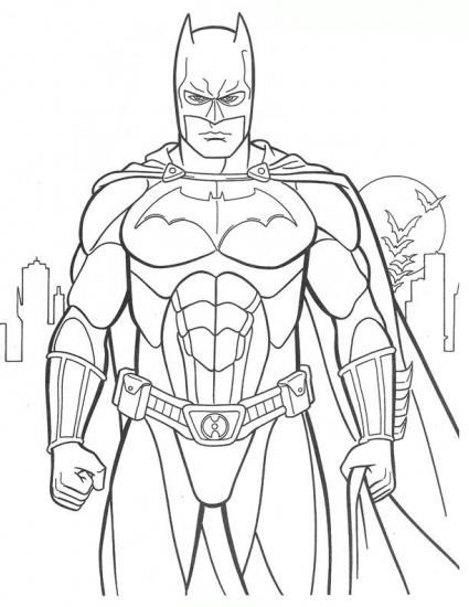 דף צביעה באטמן 2