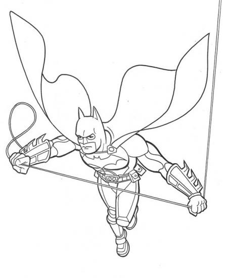 דף צביעה באטמן עף