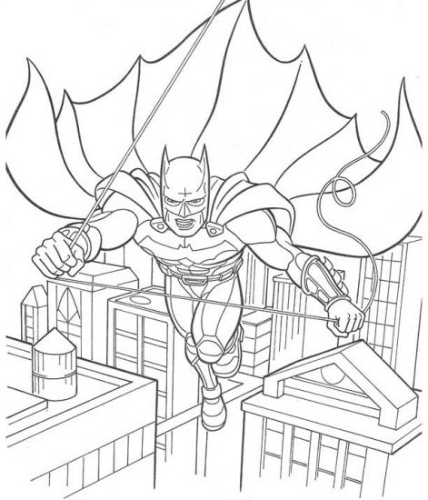 דף צביעה באטמן על הגג