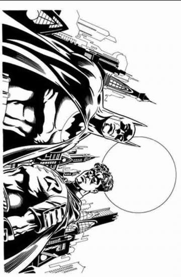 דף צביעה באטמן עם חבר