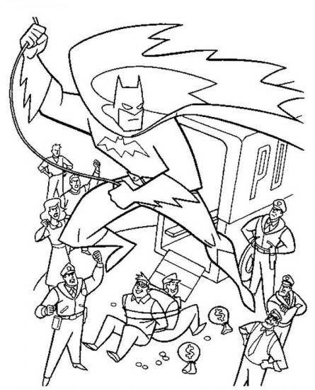 דפי צביעה באטמן תופס רשעים