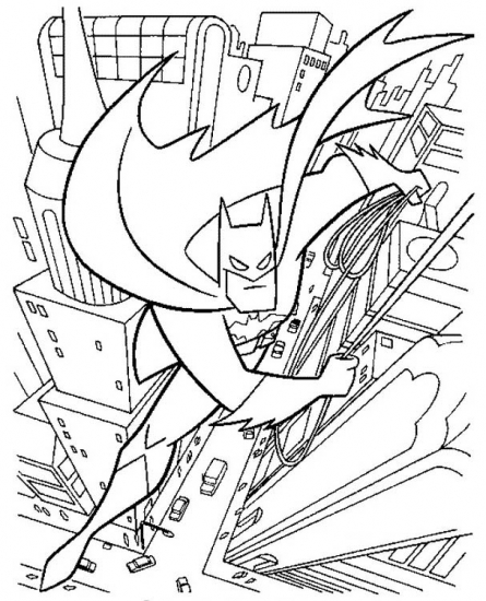 דף צביעה באטמן