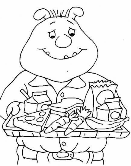 דפי צביעה של בינקי אוכל