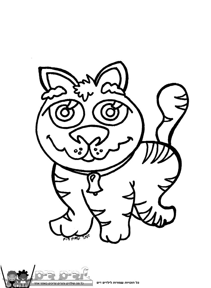 דפי צביעה חתול