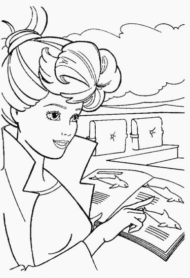 דף צביעה ברבי עם ספר