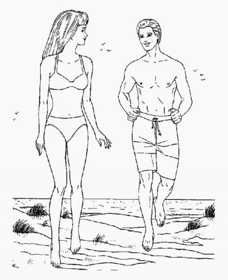 דף צביעה ברבי ובן בים