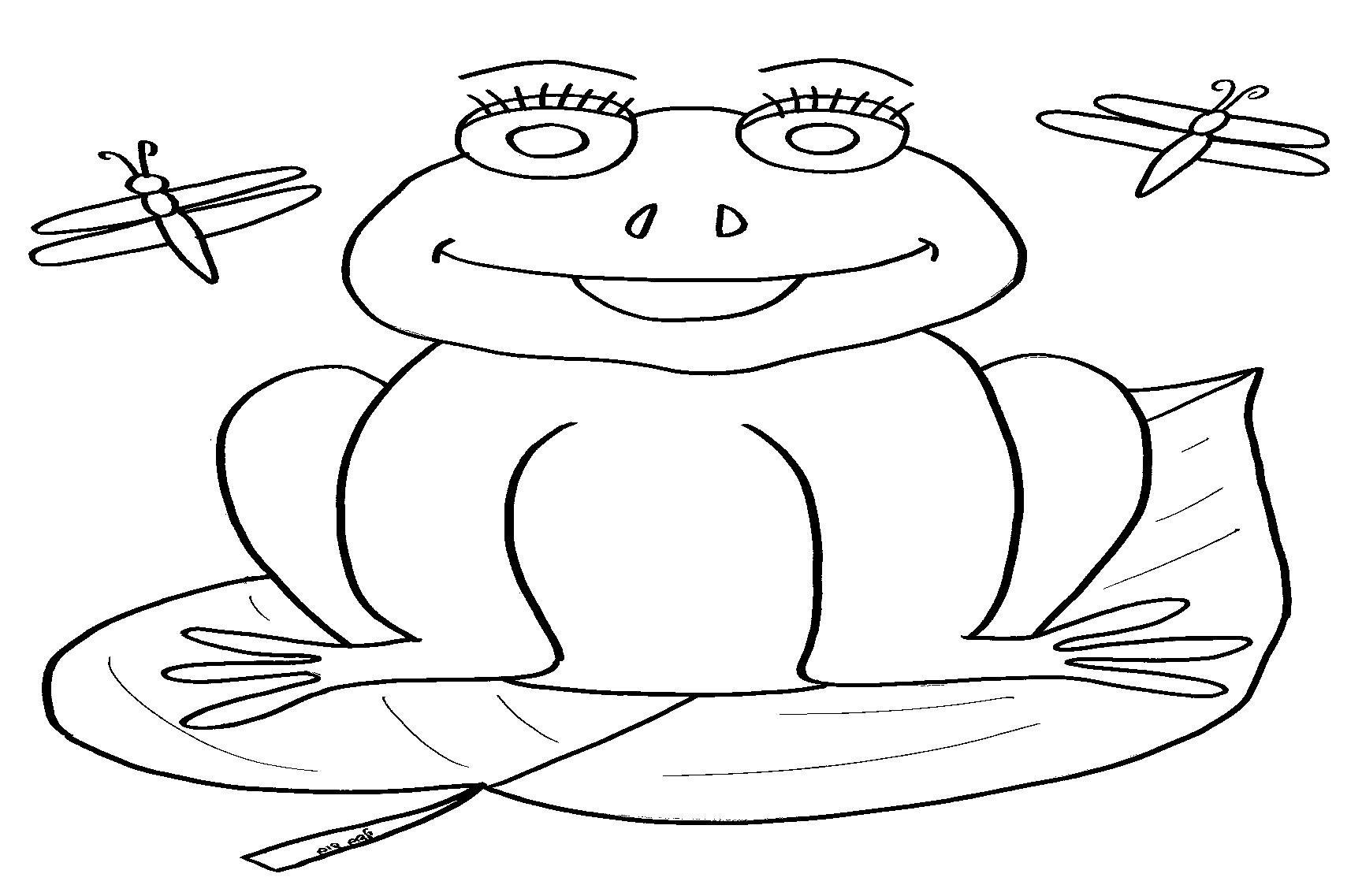דף צביעה צפרדעים