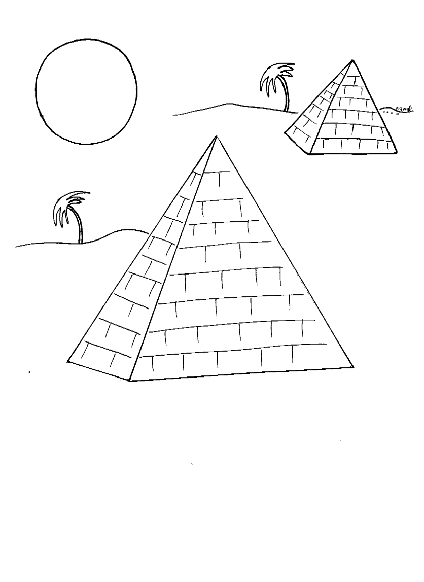 דף צביעה פרמידות מצרים