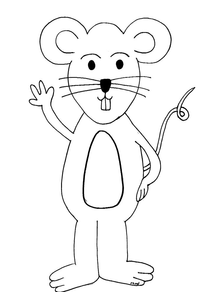דף צביעה עכבר