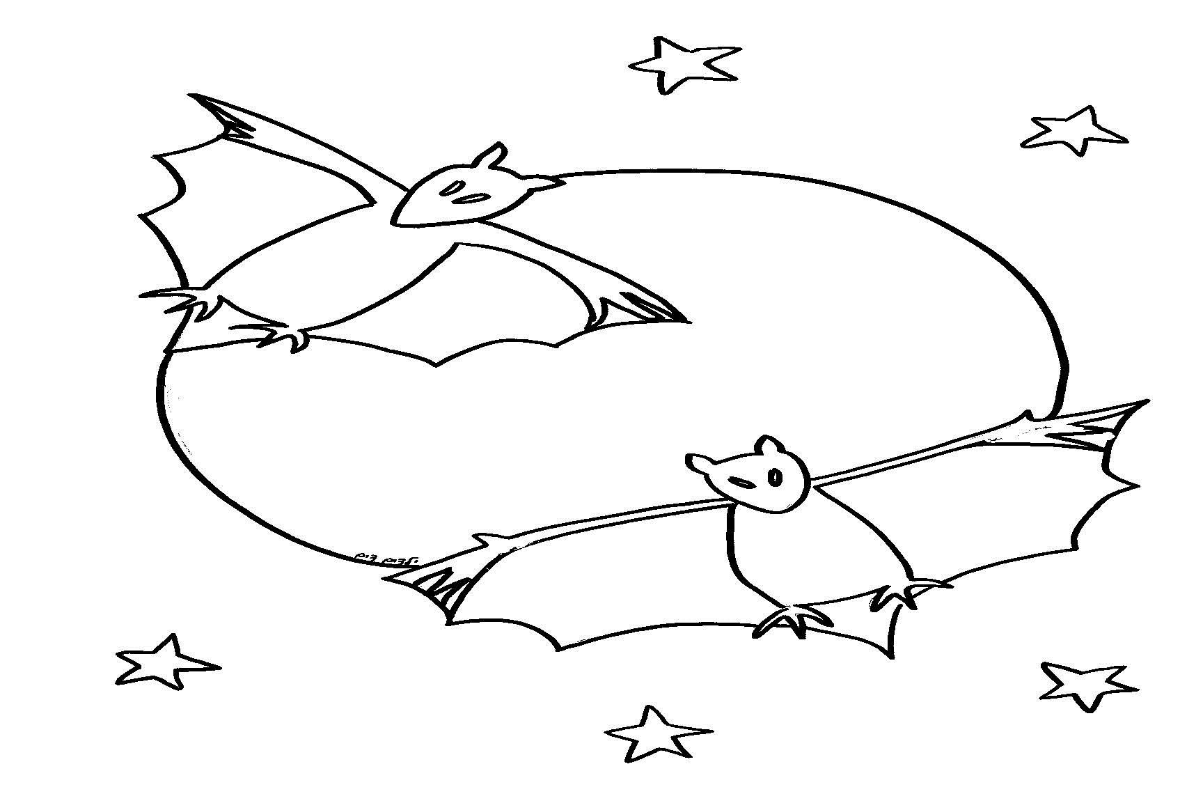 דף צביעה עטלפים