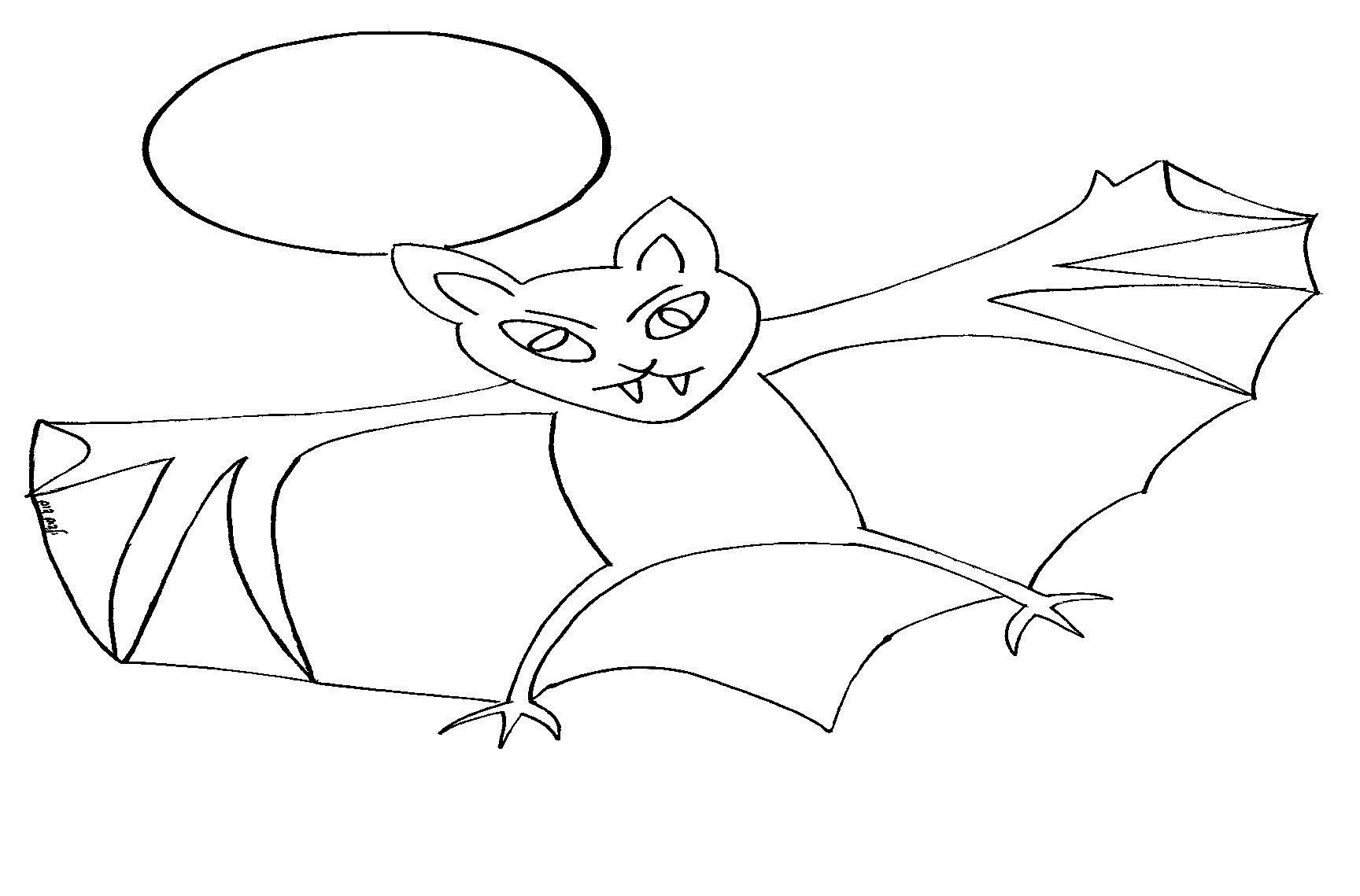 דפי צביעה עטלף