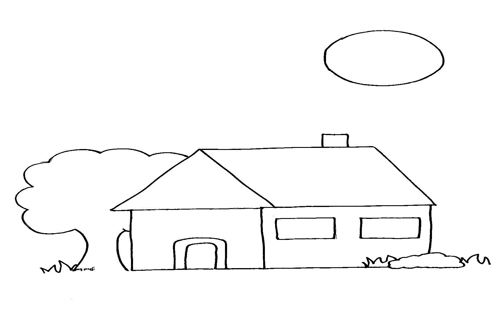 דף ציור בית