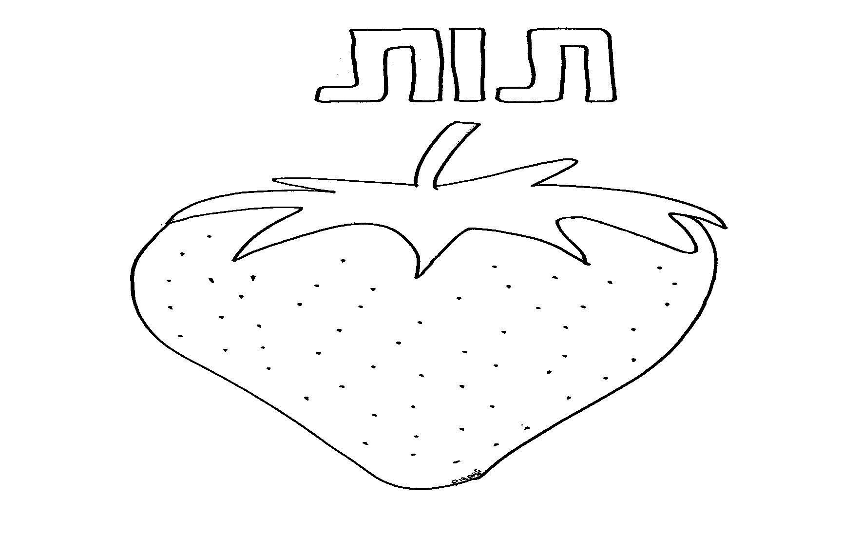 דף צביעה תותים