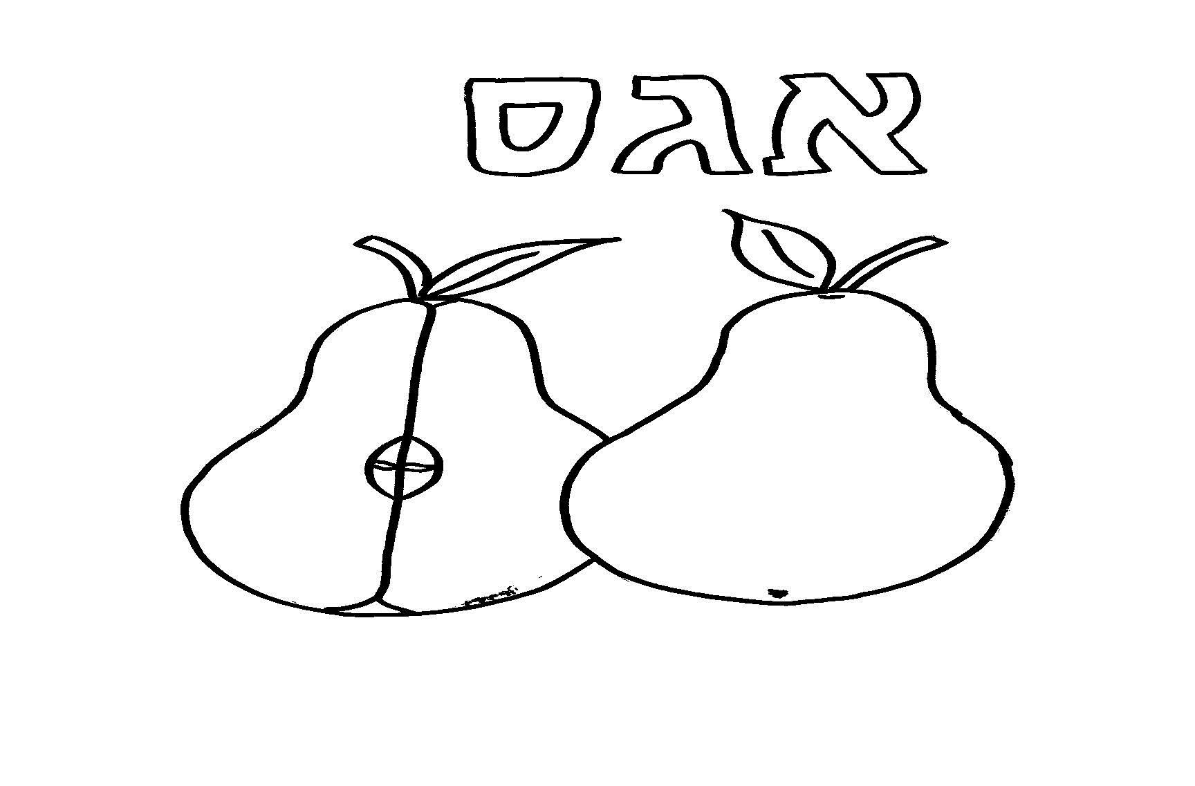 דף ציור אגס