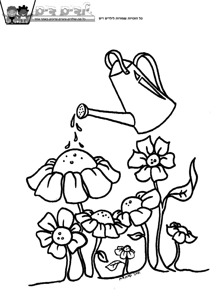 דפי ציור פרחים