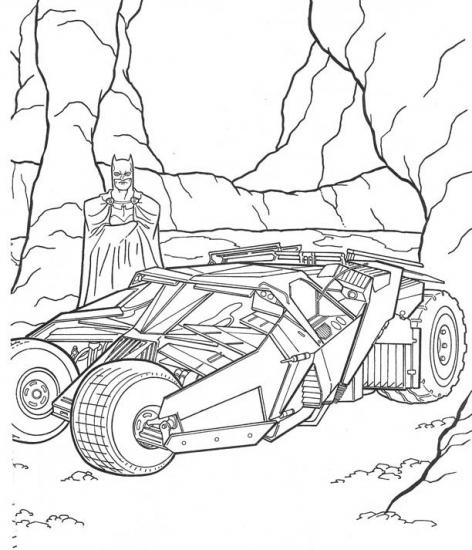 דף צביעה המכונית של באטמן