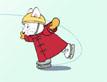 רובי מחליק בשלג