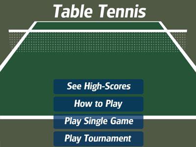 משחק טניס שולחן