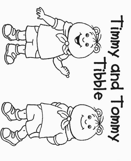דפי צביעה של טימי וטומי התאומים