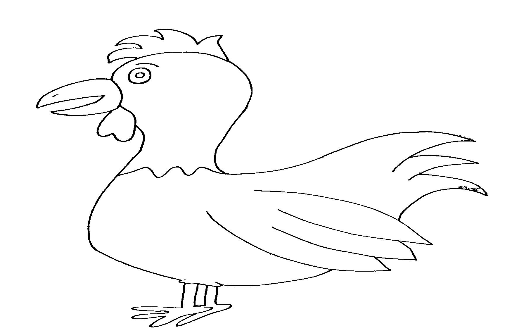 דף ציור תרנגול