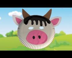 יצירת מסכה של פרה מצלחת נייר