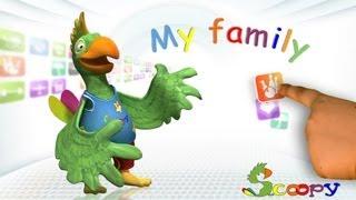 לימוד שמות בני המשפחה באנגלית