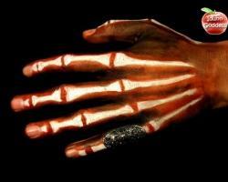איפור ידיים-שלד