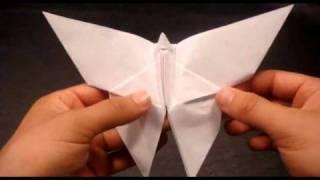 יצירת פרפר לבן מאוריגמי