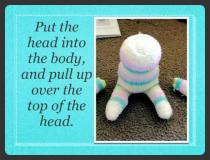הכנת בובה מזוג גרביים
