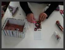 הכנת קופסא ממיחזור מגזינים