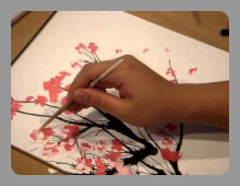 לימוד טכניקה לציור עצים