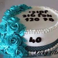 עוגת זילוף לגיל 40